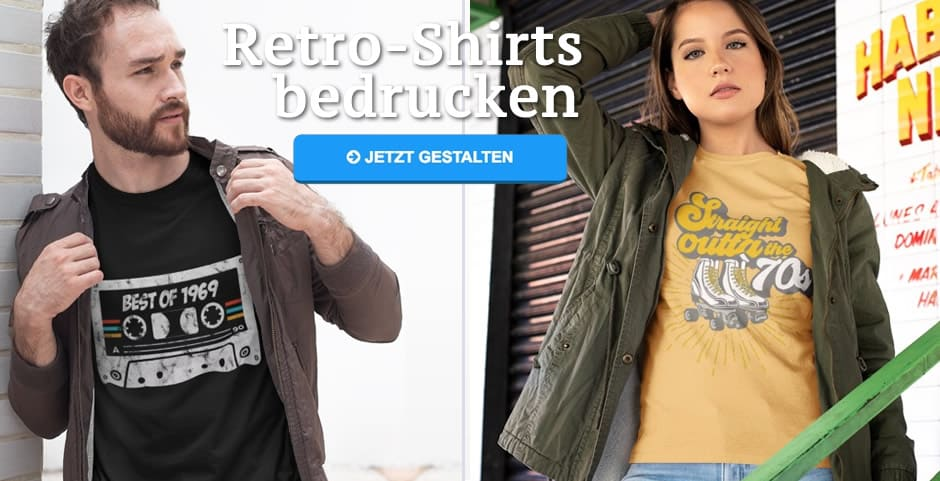 super popular 12f94 41a69 Retro Shirts bedrucken ab 1 Stück