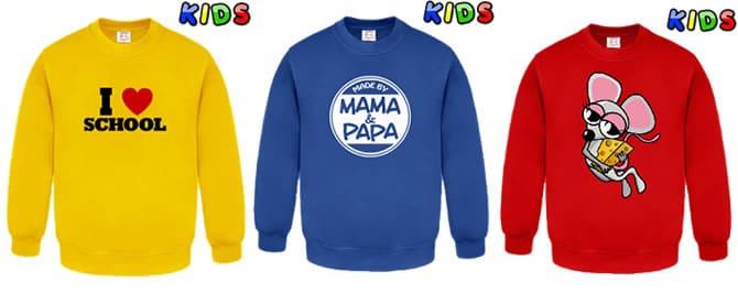 more photos 059c2 5d22c Kinder Pullover bedrucken & selbst gestalten bei Fun-Shirt24.com