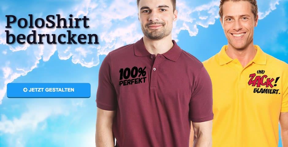 the latest fc001 8f7a0 Poloshirt bedrucken lassen ab 1 Stück - Günstig Polohemden ...
