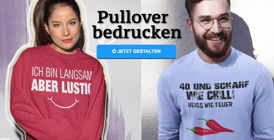 Pullover bedrucken und gestalten