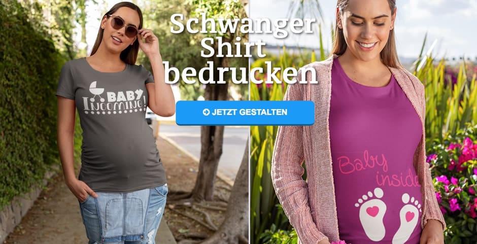 online store fabfb 5f7ca Lustige Schwangerschaft T-Shirts bedrucken mit Text, Motiv ...