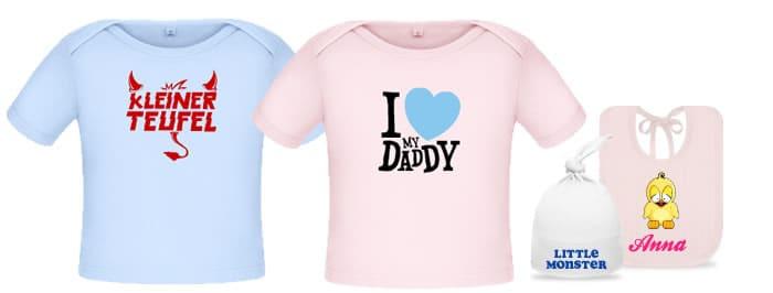 best service 8f77c 9da0f Baby T-Shirt bedrucken - lustige Baby Fun Shirts selbst ...