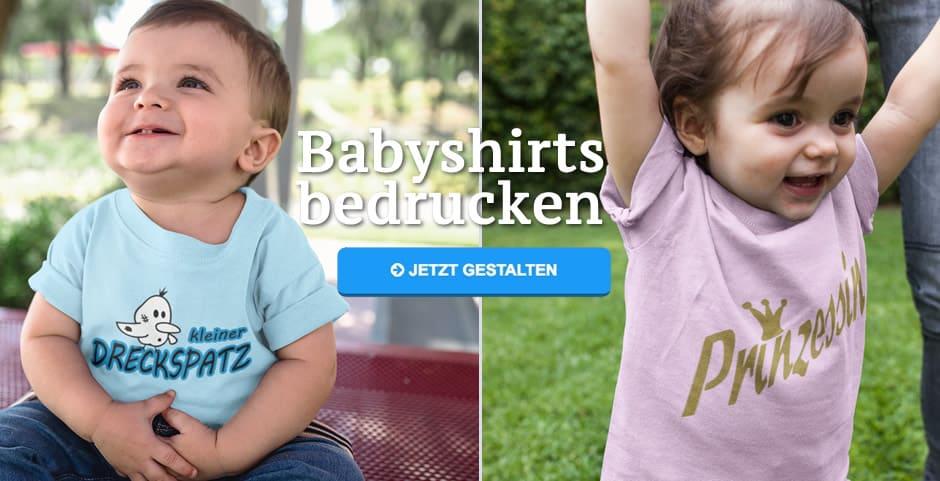 best service 61fa6 ff5b2 Baby T-Shirt bedrucken - lustige Baby Fun Shirts selbst ...